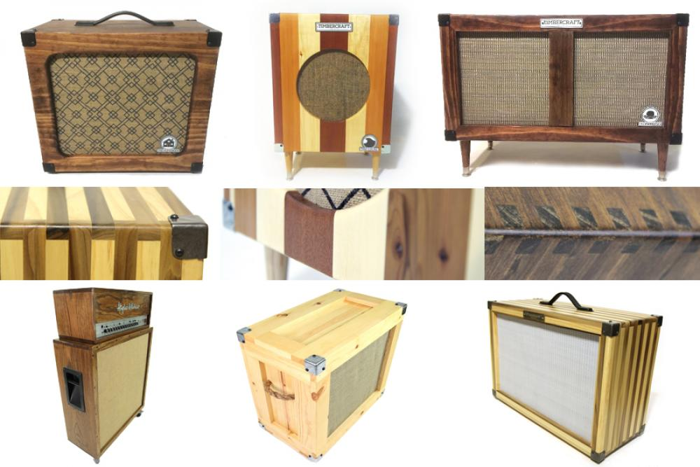 Just a collage of some of the fancy speaker cabinets I make.