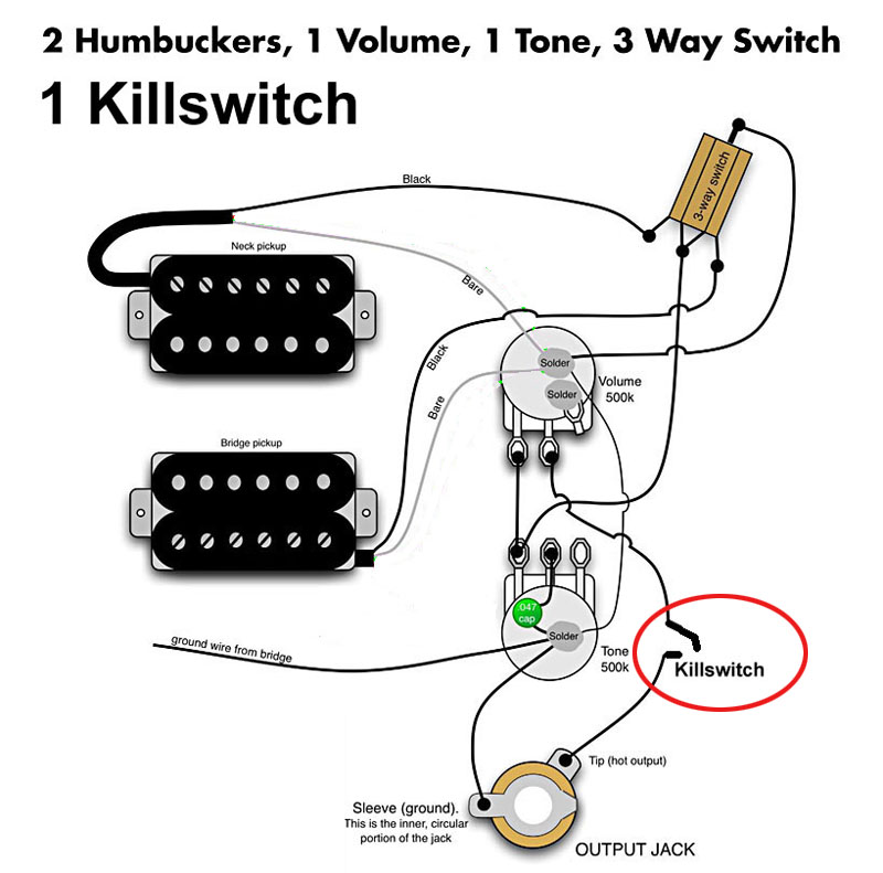2 Humbuckers 2 Volume 2 Tone 3 Way Switch - Merzie.net