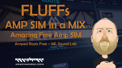 Fluff Amp Sim in a mixed Track - Amped Roots Free Amp Simulator