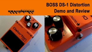 BOSS DS-1 Distortion Pedal demo and Review