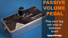 Play your big amp at bedroom level! - Passive volume pedal for bass and guitar