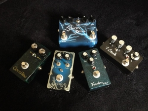 Black Trees Audio Trem, Fuzz, chorus and drive pedals