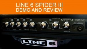 LINE6 Spider 3 15 watt amplifier demo and review