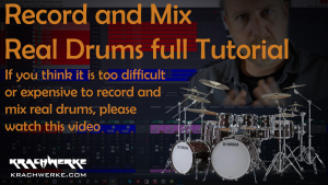Recording and Mixing Real Drums Full Tutorial - Recording live drums does not have to be daunting