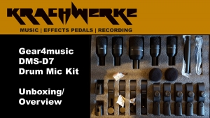 Gear4Music Drum 7 piece mic kit